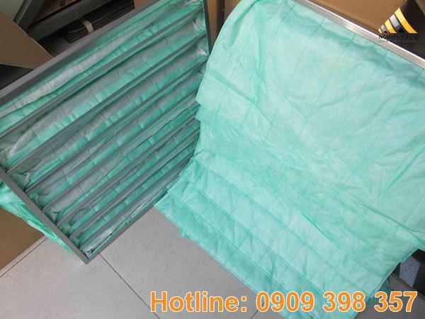 Có hiệu suất lọc là 70-75% theo tiêu chuẩn EN779, túi màu xanh lá cây