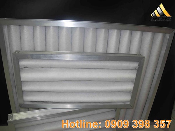 Lưới lọc bụi G2 có độ dày 10mm, được làm bằng khung kẽm hoặc khung nhôm là chủ yếu.