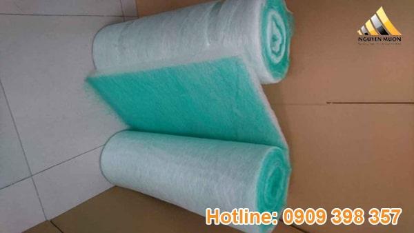 Từ đó tạo thành một loại bông lọc với tên gọi là bông lọc sợi thủy tinh.