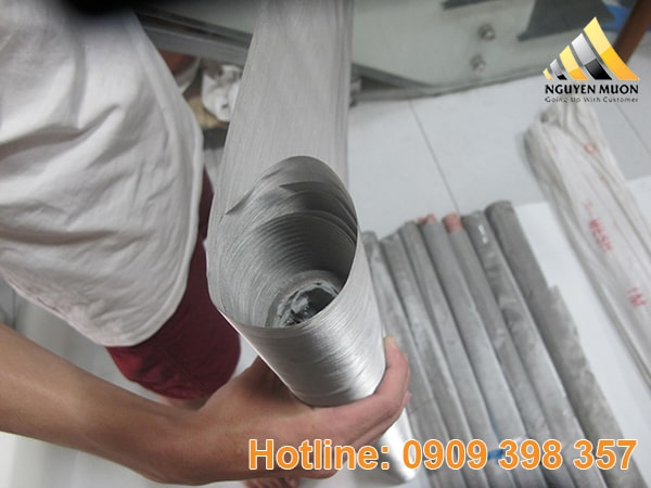 Vì lưới không bị oxy hóa nên sử dụng lâu dài và dễ vệ sinh để tái sử dụng