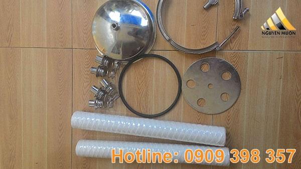 Bình lọc lõi có công suất lọc cao lên đến 25m3/h và áp lực lọc trong bình lên đến 10Pa.